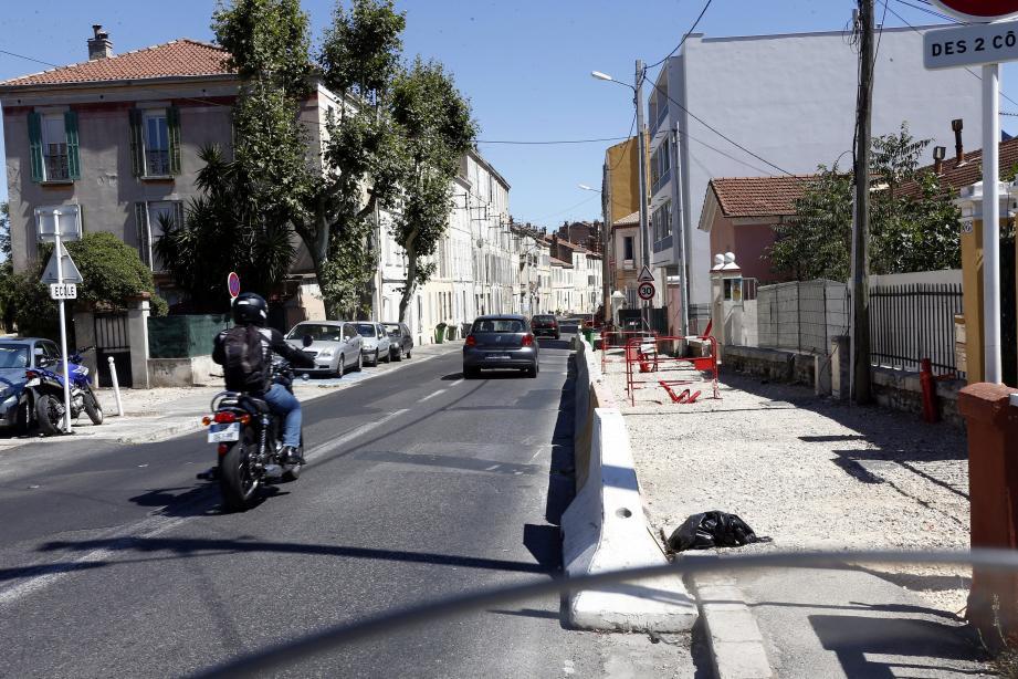 Les travaux du Département sur l'avenue du Docteur Fontan devraient être terminés fin octobre.