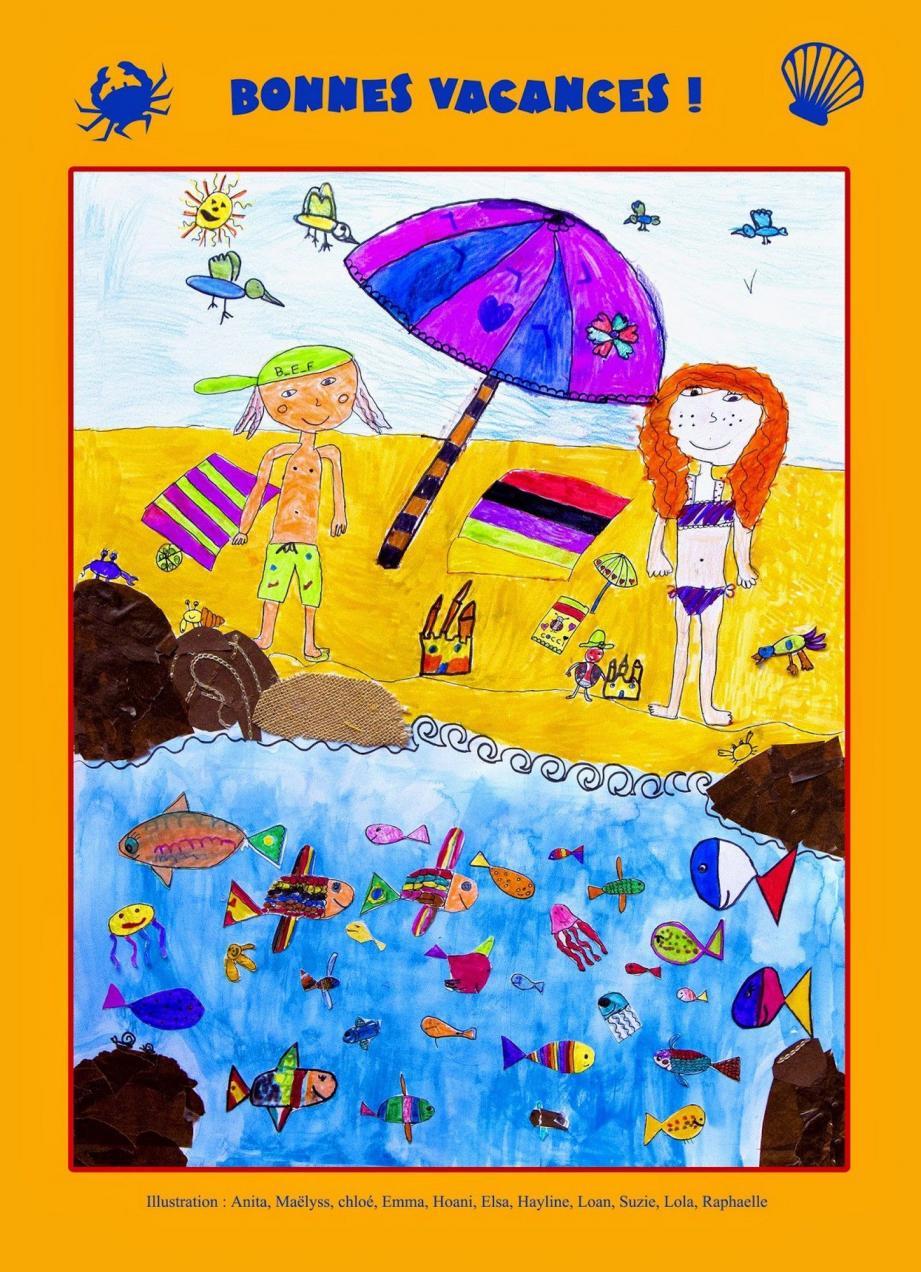 Une affiche colorée, réalisée par les enfants des nouvelles activités pédagogiques, vous souhaite de bonnes vacances. (DR)
