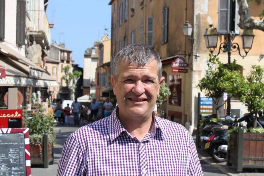 Pierre Ortola,  un président des commerçants confiant pour l'avenir.