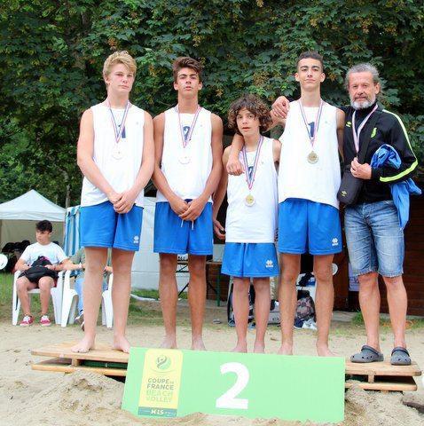 Les M15 masculins terminent vice-champions de France.