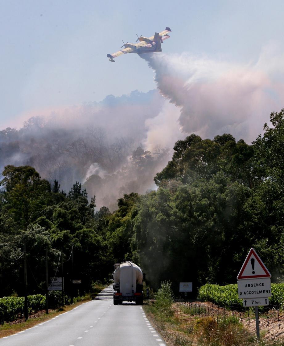 D'importants moyens aériens ont été déployés sur la zone difficile d'accès.