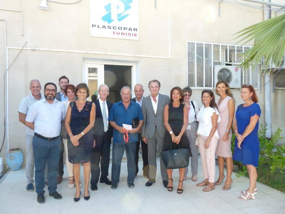 Une partie de la délégation économique présente à Tunis les 6 et 7 juillet, autour du président du Monaco Economic Board, Michel Dotta.