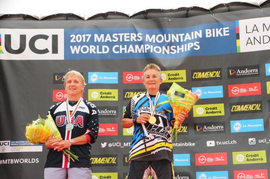 La Mandolocienne Marilyn Bisson, à droite, a une fois de plus remporté l'épreuve !