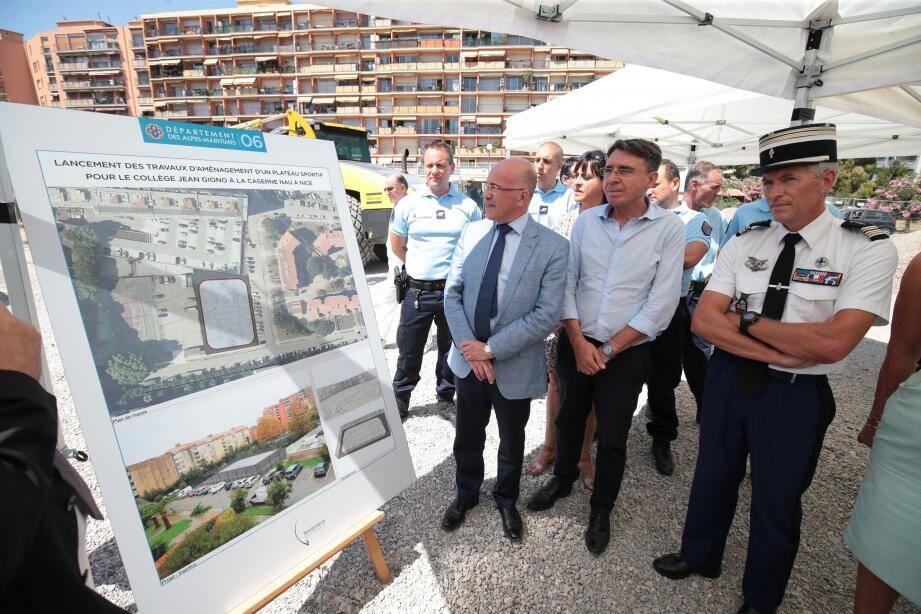 Éric Ciotti a salué la célérité du chantier : la livraison est prévue pour la rentrée.