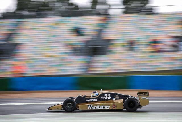 Manifestement, Frédéric Lajoux a assimilé à toute vitesse le mode d'emploi de cette Arrows A1 presque quadragénaire. Première course, premier podium !