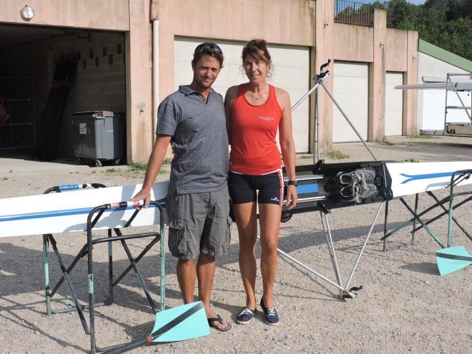 Guylaine une grande championne et Nicolas son entraîneur.