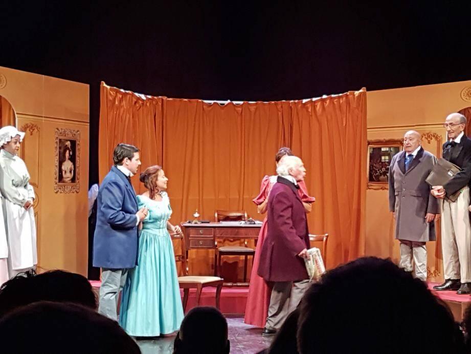 Mardi soir, la troupe des Tragos a joué le Faiseur d'Honoré de Balzac.