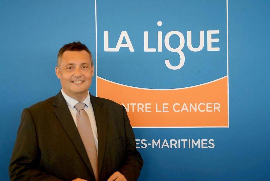 Patrick Malléa, président du Comité 06 de la Ligue contre le Cancer veut.