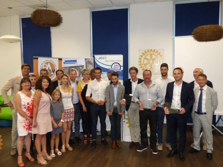 Les lauréats et remettants de la 4e édition du Prix du Rotary Club de Nice à la création d'entreprise, il y a quelques jours au CEEI.