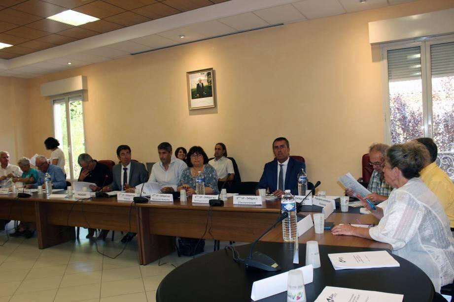 Le conseil communautaire réuni en séance plénière à Puget-Théniers.
