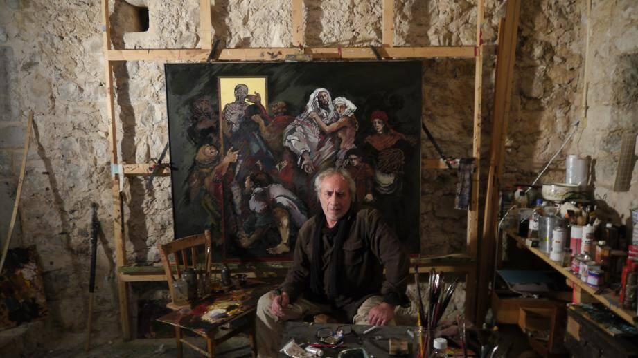 Michel Isnard expose ses œuvres en Italie tout l'été.(DR)