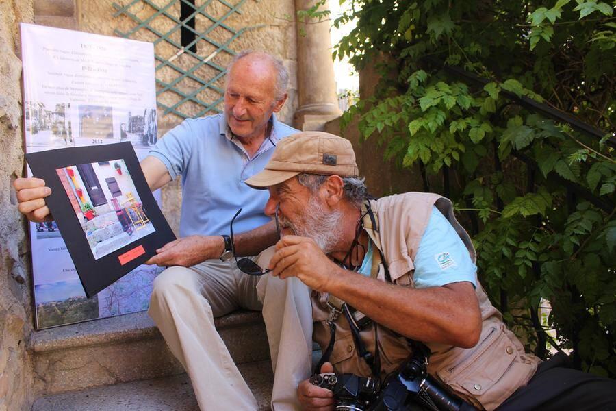 Robert Nardi, président de Racines Martigianes valbonnaises, et le trésorier de l'association qui organise ce concours.