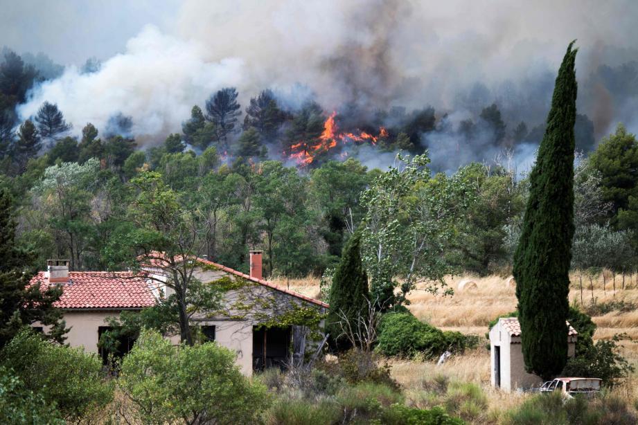Dans le Luberon (Vaucluse), on est également passé tout près de la catastrophe.