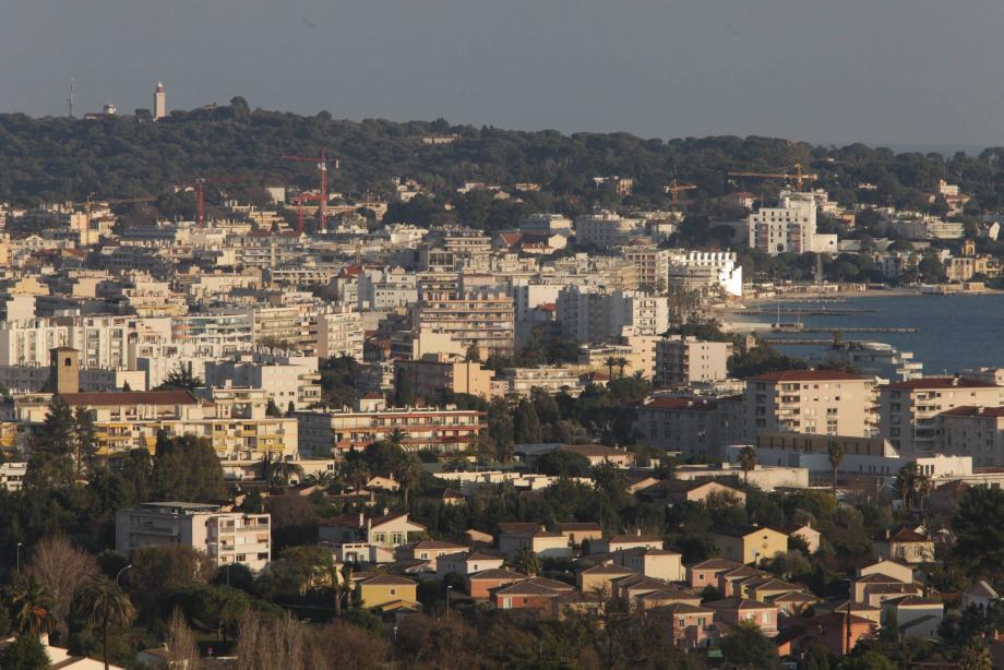 Une vue générale d'Antibes.