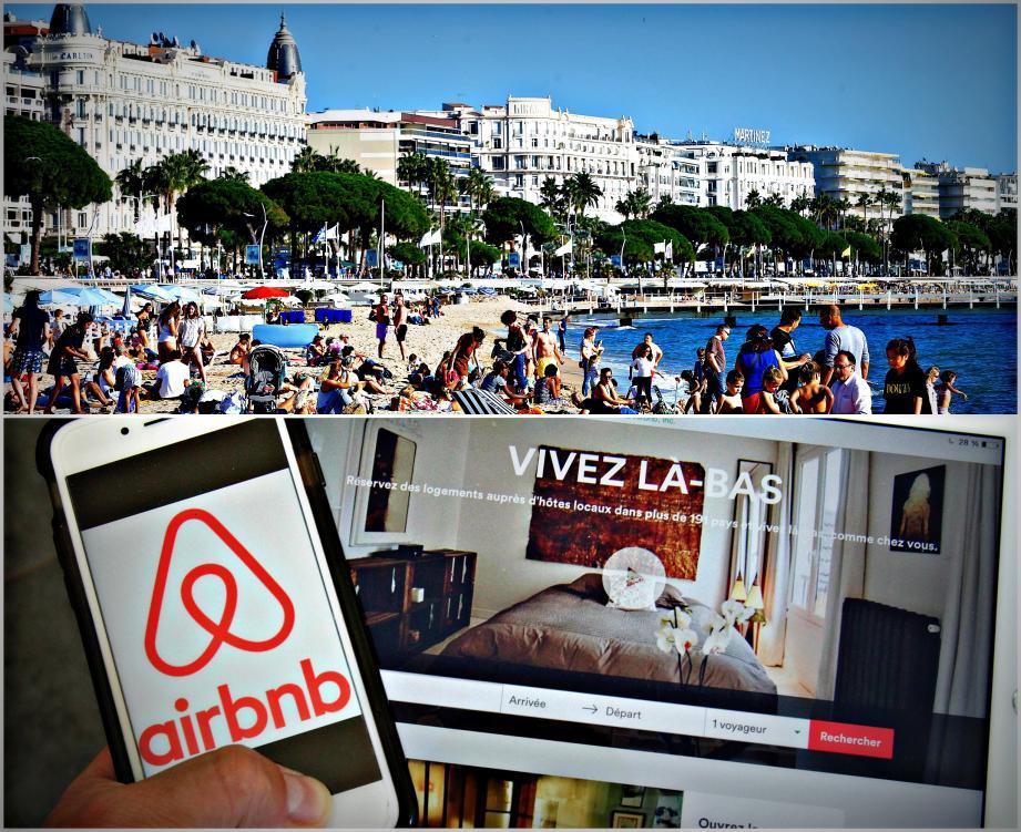 Cannes est la deuxième ville qui propose le plus d'offres Airbnb après Paris.