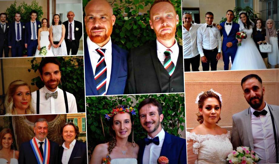 Les sept couples qui se sont unis en mairie de Nice