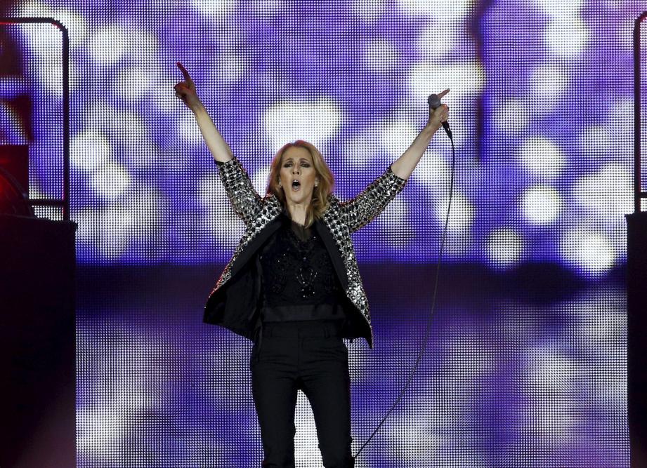 Céline Dion en concert à Nice.