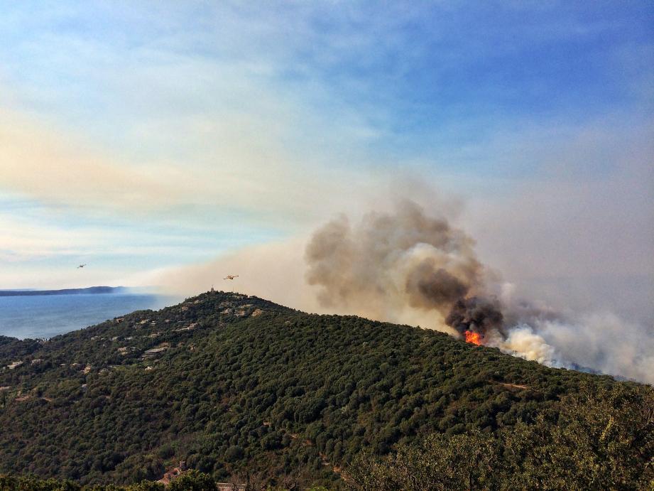 L'incendie dans le secteur de Bormes-les-Mimosas.