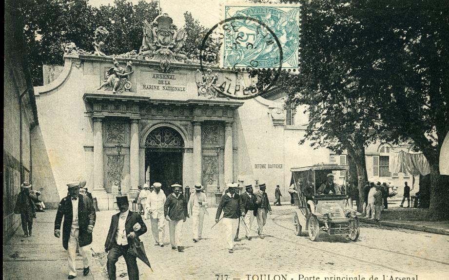L'ancienne Porte Principale, à Toulon.