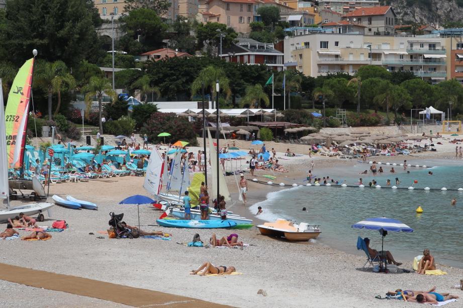 La plage Marquet à Cap-d'Ail.