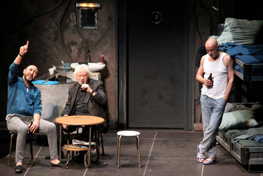 "Niels Arestrup, Kad Merad, Patrick Bosso dans ""Acting"""