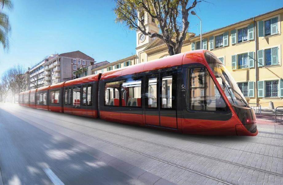 Le futur tramway qui empruntera, à compter de 2018, la deuxième ligne reliant l'Est de la ville à l'Ouest.