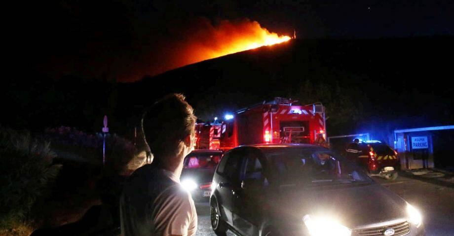Incendie à Ramatuelle et à l'Escalet.