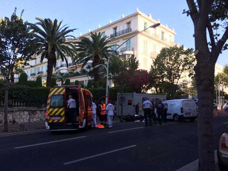 La victime était inconsciente à l'arrivée des secours.
