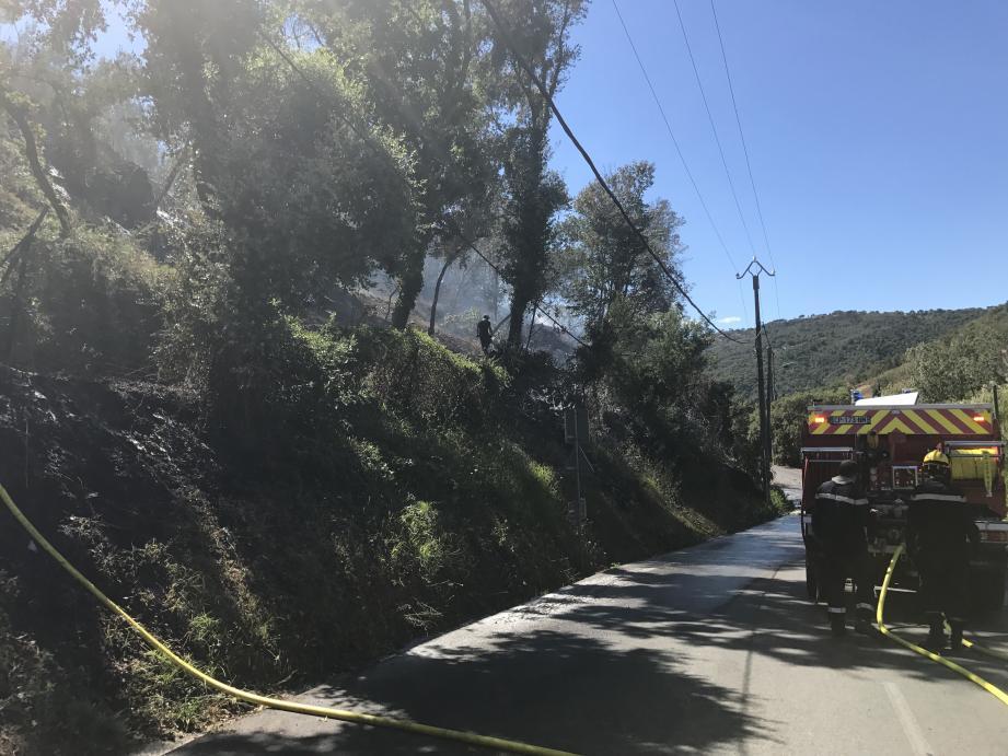Les pompiers zur place ce lundi après-midi.