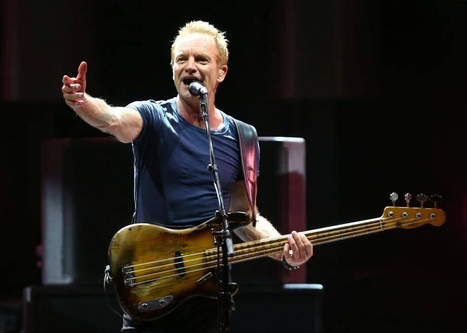 Sting au festival Jazz à Juan 2017.