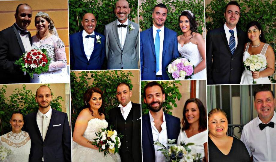 Huit couples se sont unis en mairie de Nice