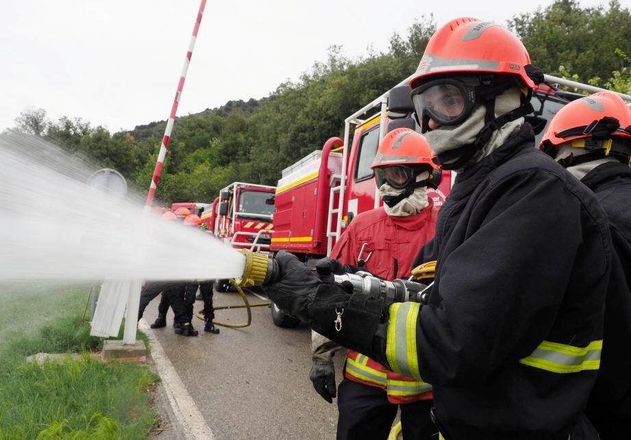 Des pompiers en action