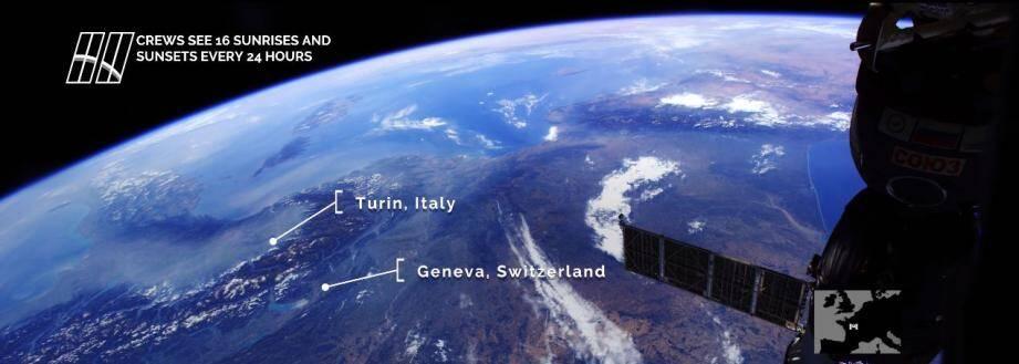 La France filmée depuis l'espace.