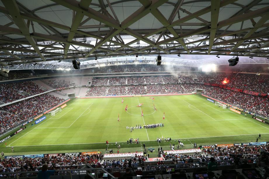 Le stade Allianz Riviera était complet pour le match historique de l'OGC Nice face à l'Ajax Amsterdam