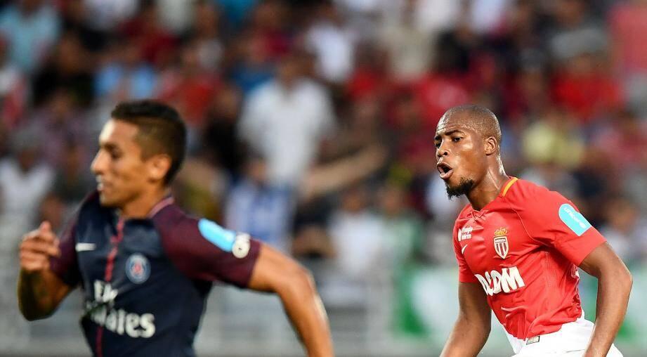 Djibril Sidibe a marqué d'un petit, le premier de la rencontre contre le PSG à Tanger.