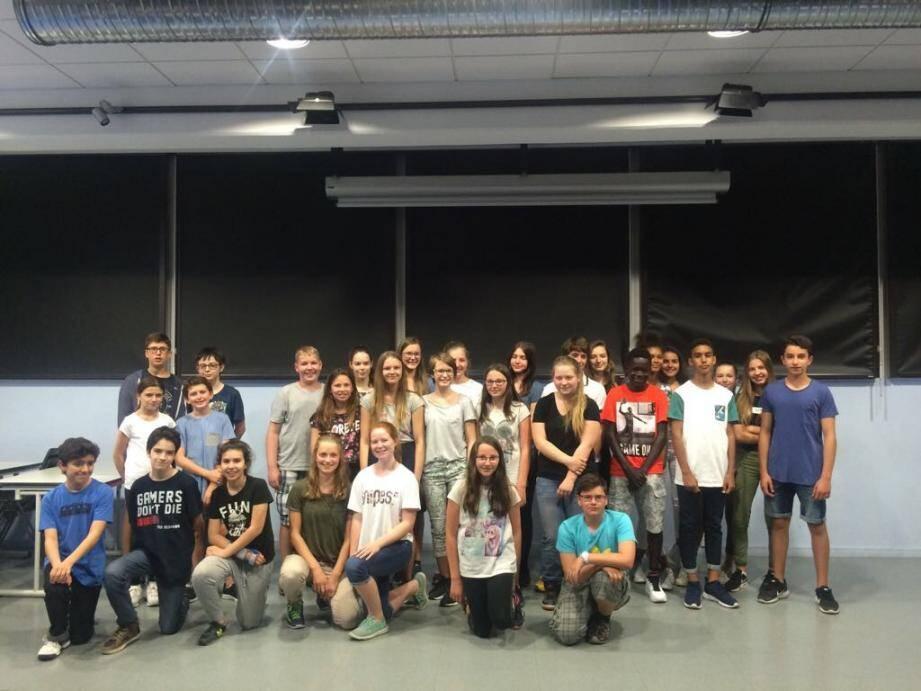 Les élèves germanistes du collège Charles III de Monaco, ont accueilli leurs correspondants autrichiens.(DR)