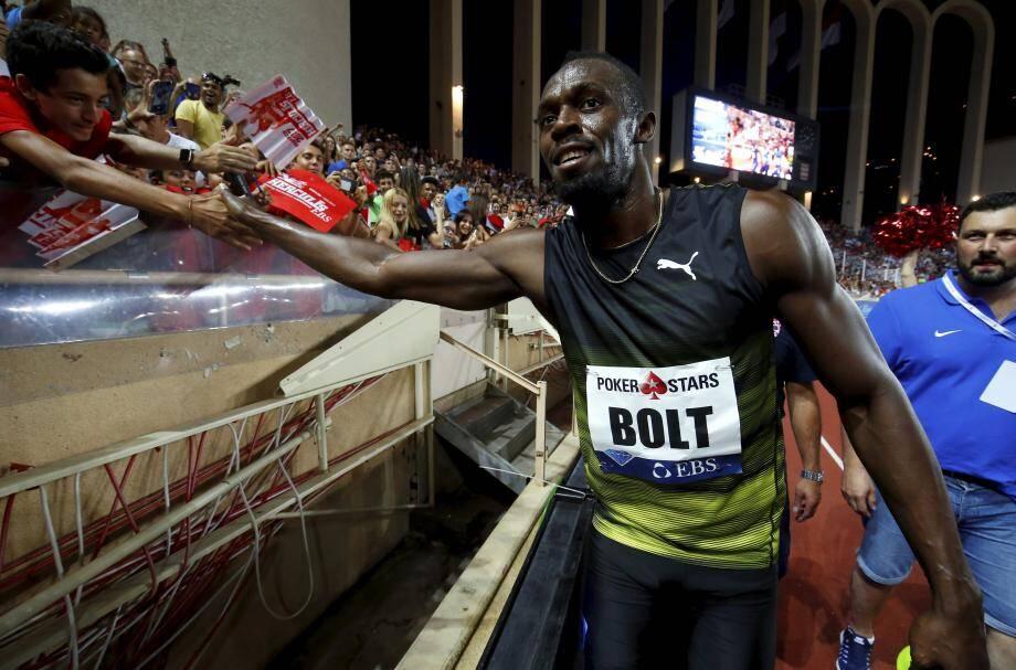 La tournée d'adieux d'Usain Bolt était passée par Monaco le mois dernier.