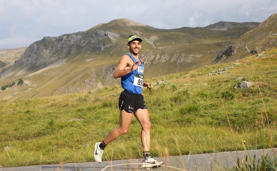 Cédric Gilles vainqueur de l'ascension de la Bonette.  (DR)