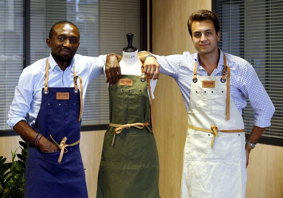 Le premier, Mali Soulé, a inventé le produit. Le second, Théodore JR Giorgi, la commercialise.