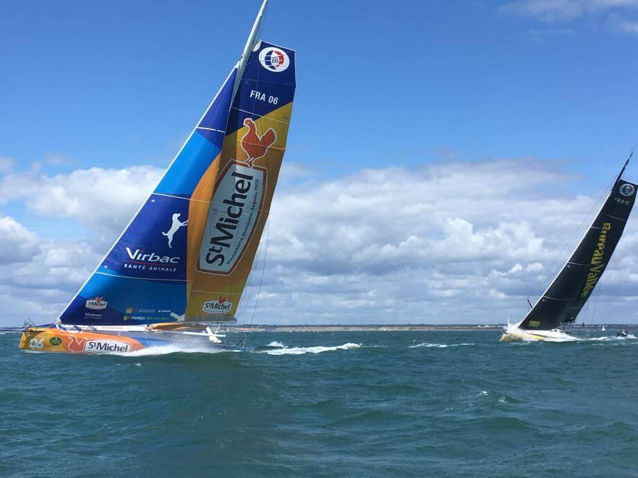 StMichel-Virbac au moment du passage devant les Needles pointait en 3e position.