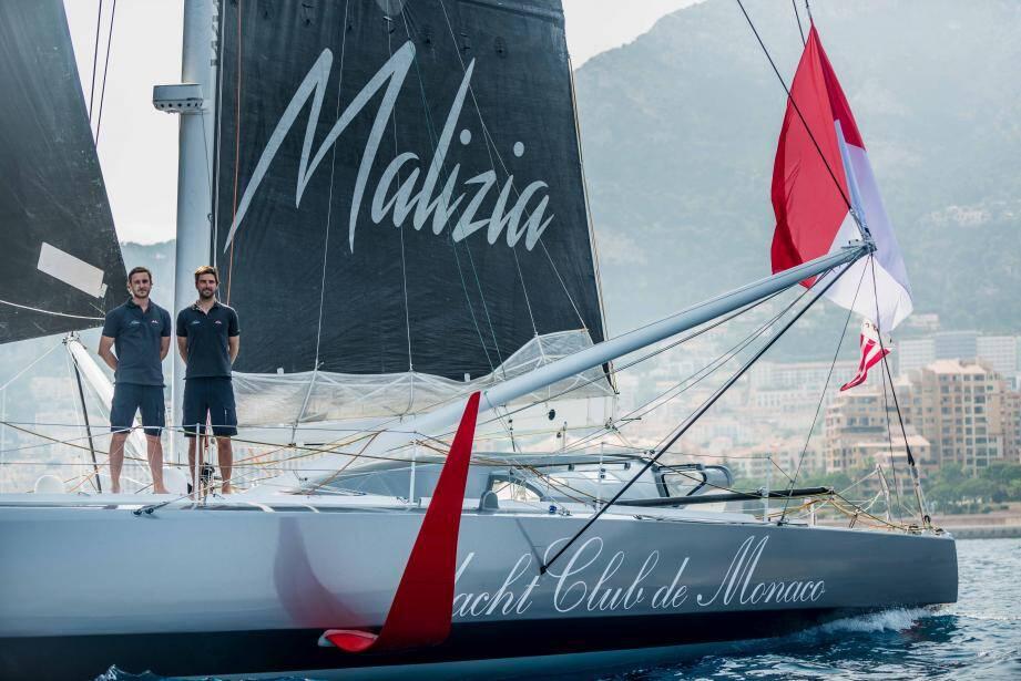Pierre Casiraghi et Boris Herrmann, les deux régatiers du Yacht-club de Monaco, courent pour la première fois à bord de Malizia II.