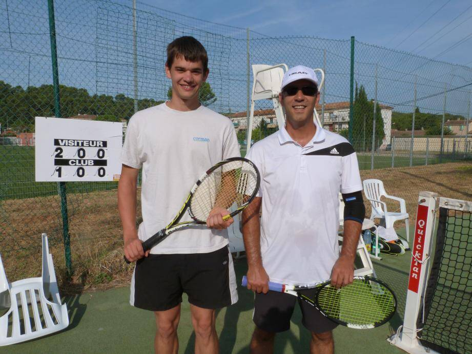 Yoann Heriveaux et Lionel Martin, finalistes de la consolante.