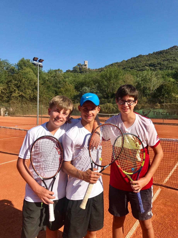 De gauche à droite Fabien, Rémy et Alexis : leurs adversaires n'ont plus qu'à bien se tenir.