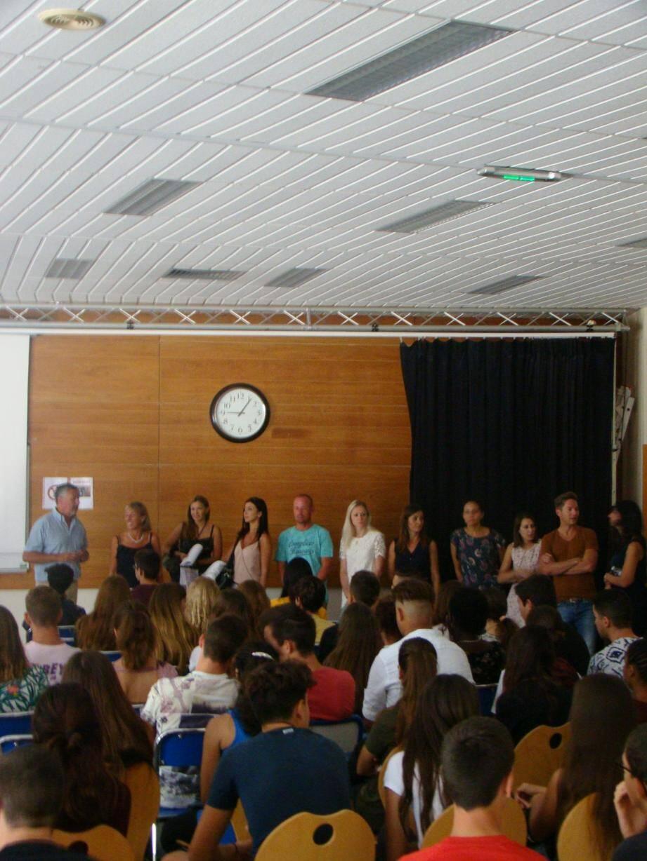 Ce stage a aussi été l'occasion pour les lycéens de découvrir la nouvelle équipe de direction de l'établissement.