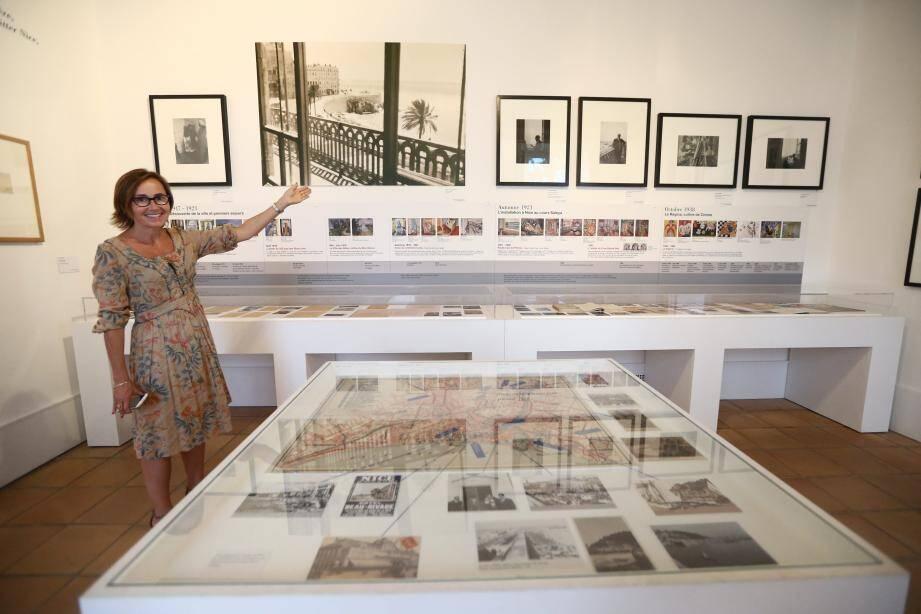 Claudine Grammont, directrice du musée, dans la salle Matisse-Nice.