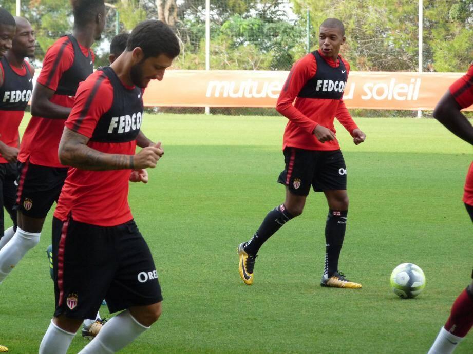 Hier matin, Mbappé a peut-être disputé son dernier entraînement ouvert aux médias à La Turbie.