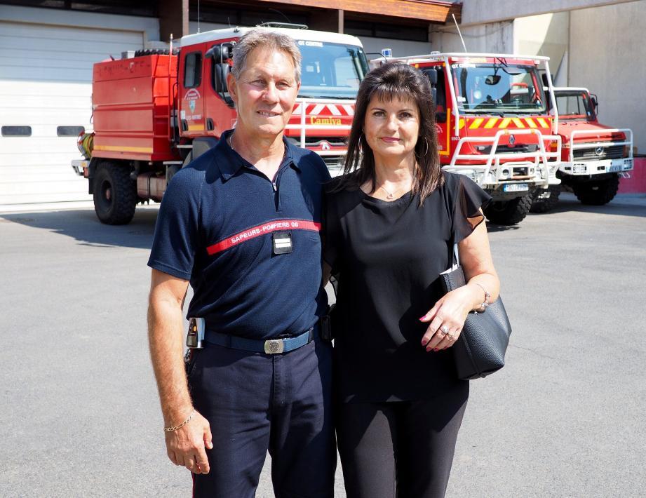 Alain Ruggiero et son épouse Michèle, qui l'a « accompagné et soutenu tout au long de sa carrière. »