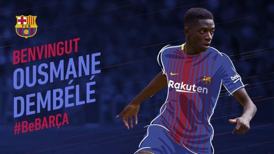 Sur son site officiel, le club blaugrana a souhaité la bienvenue au joueur français.
