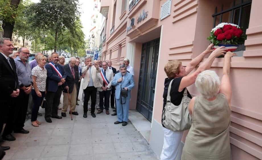 Hier, au numéro 20 du boulevard Cessole, un hommage a été rendu à ceux qui sont tombés le 28 août 1944 à Nice.