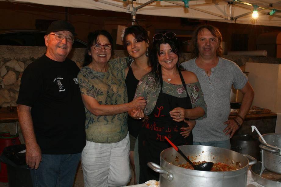 La famille Balestra s'est mise en cuisine pour l'occasion.